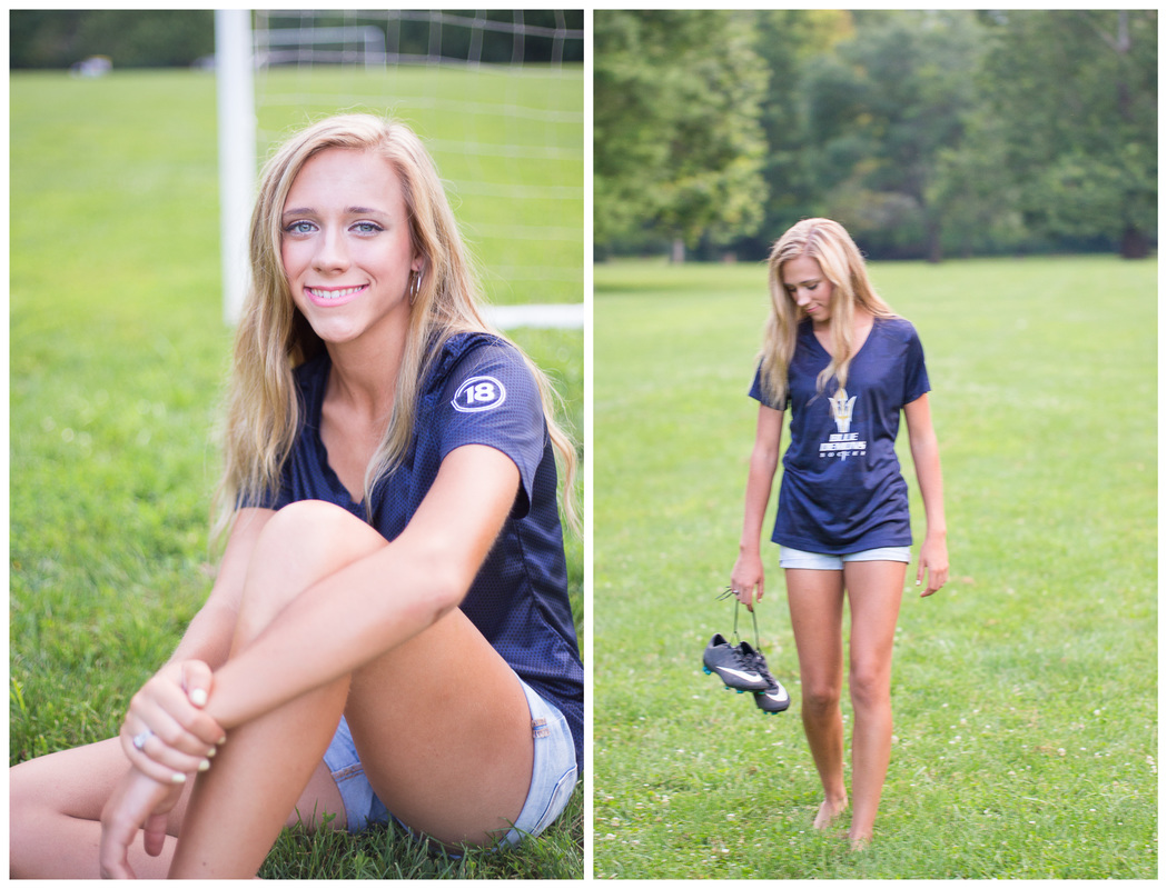Christiansburg high school senior, class of 2016, senior portraits, radford photographer, christiansburg va photographer, blacksburg va photographer, radford high school senior photographer, bisset park radford photos, wildwood park radford va, senior in a creek, soccer senior photos,