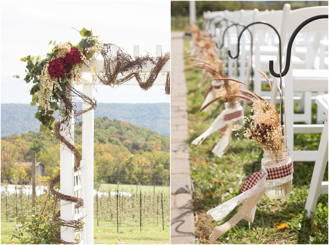 diy fall wedding, burlap and lace wedding, mountain wedding, country wedding, radford va wedding photographer, blacksburg va wedding photographer, doe creek farm wedding, alter decor wedding, virginia wedding photographer