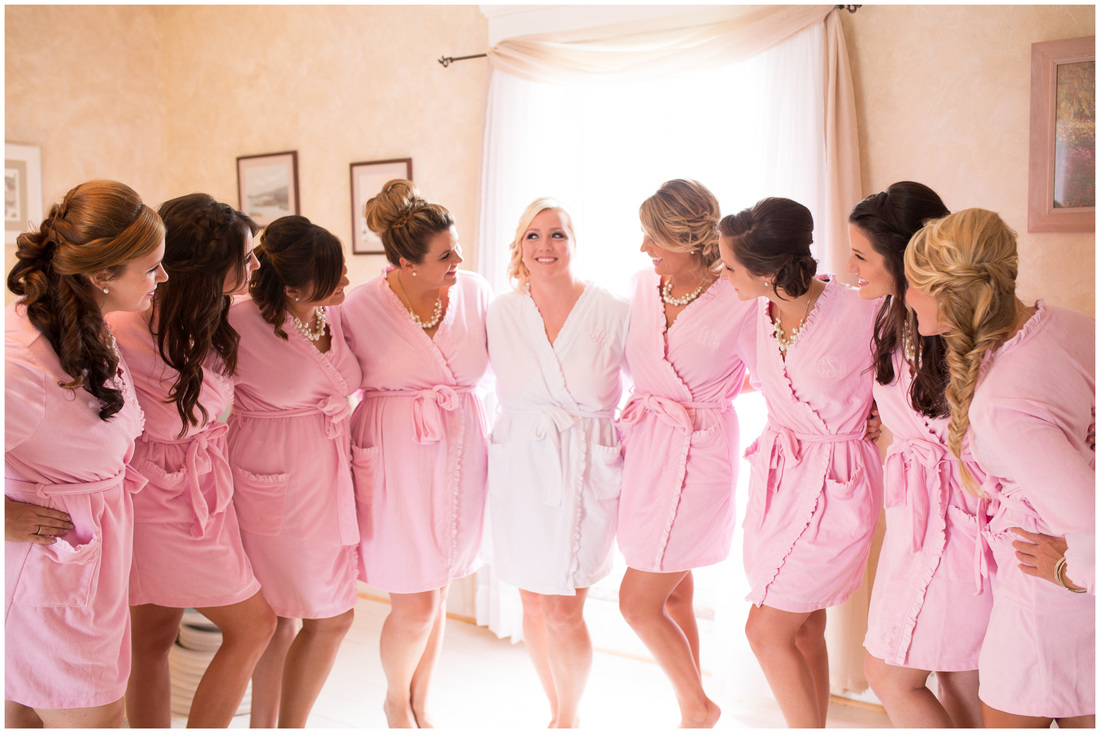 pink bridal robes, bridesmaids gifts, personalized robes