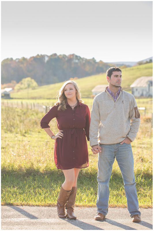 Johns creek va engagement session, engagement portraits, engaged, country fall engagement, outfit inspiration fall engagement