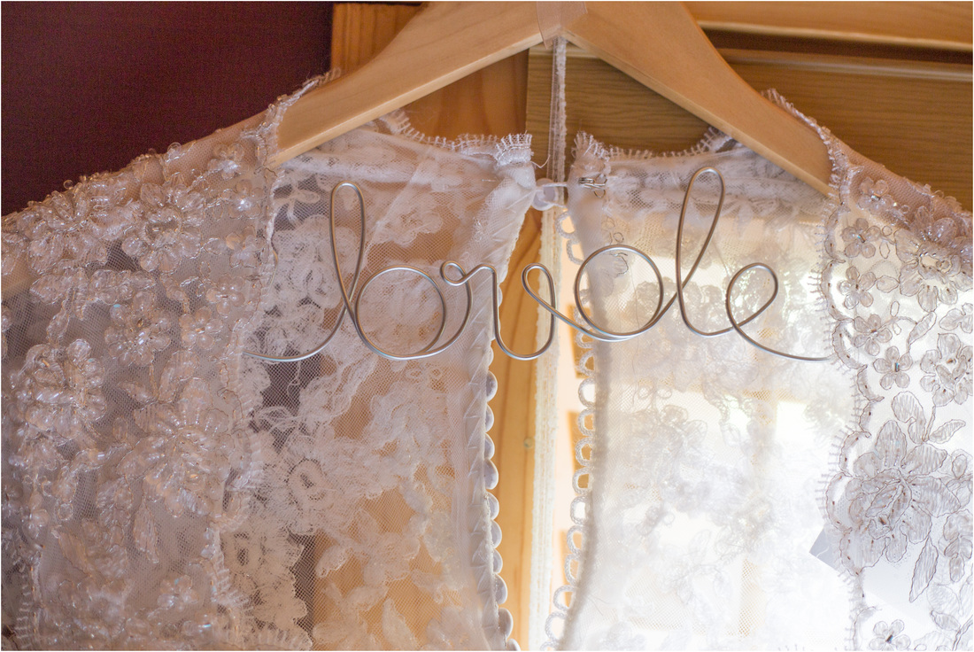 Selah Springs Wedding, Selah Springs Riner VA, Bride hanger, bride wire hanger, wedding dress